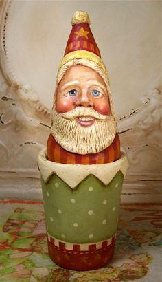 Santa Folk Art Christmas