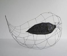 odine lang wire and paper sculpture
