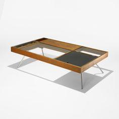 Milo Baughman, coffee table for Glenn of California, c. Home Office Furniture, Table Furniture, Cool Furniture, Furniture Design, Home Coffee Tables, Coffe Table, Milo Baughman, Mid Century Modern Furniture, Living Room Designs