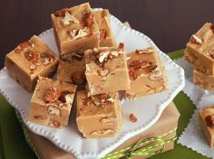 "Easy Praline Pecan Fudge {Betty Crocker}..""Nothing beats the flavors of candied pecans and buttery caramel in this easy fudge – an indulgent dessert that tastes just like praline candy. """
