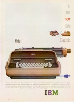 1959 IBM Electric ad.  Where's the mouse?