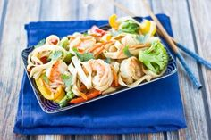 shrimp lo mein stir fry.