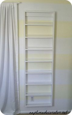 how to turn a ladder into a kids bookcase