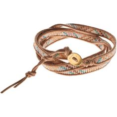 CHAN LUU Filigree Bohemian Salmon Beaded wrap bracelet (€195) ❤ liked on Polyvore featuring jewelry, bracelets, accessories, pulseiras, boho bangles, bohemian jewelry, handmade leather jewelry, boho jewelry and leather wrap bracelet