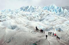 Mini-Trekking.  Perito Moreno, Argentina.