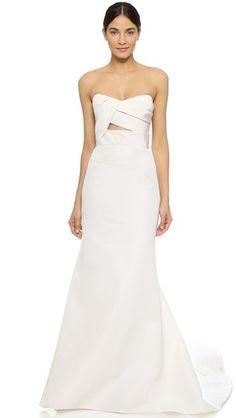 J. Mendel Adelaide Strapless Bustier Gown Strapless Bustier 47120e4033da