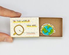 Cute Valentine Card/ Valentine's Day Card/ Anniversary Card/ Tiny Love Card Matchbox/ Gift box/ Little Message box/ To me you are the world