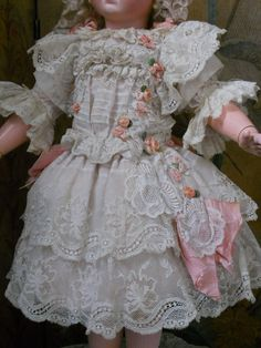 ~~~ Very Pretty French BeBe Costume with Bonnet ~~~ from whendreamscometrue on Ruby Lane