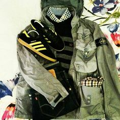 Away Days - Hamburgs and Stone Island Football Casual Clothing, Football Casuals, Motorcycle Jacket, Military Jacket, Bomber Jacket, Adidas Og, Cool Kids, Preppy, Casual Outfits