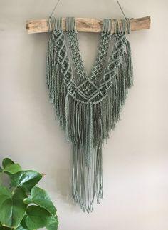 Image of 'Laikynn' Macrame Wall Hanging, driftwood hanger, branch hanging