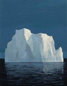 Iceberg at Dusk original painting by Jeremy Miranda