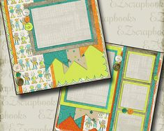 School Scrapbook Layouts, Scrapbooking Layouts, Scrapbook Pages, Little Swimmers, Treasure Boxes, Unique Jewelry, Handmade Gifts, Baby, Kid Craft Gifts