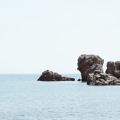 Rocks on the water #crete