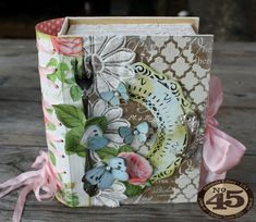 Botanical Tea Book Box by Miranda Edney #graphic45; June 2015