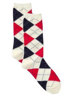 Allover argyle socks | Gap (no longer available)