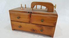 Antique-Miniature-Sewing-Machine-wood-keepsake-box-with-draws