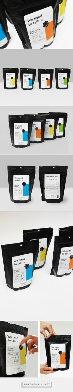 We need to talk® /  four different types of coffee, each with different grades of roasting and flavours.