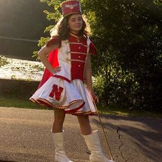 Strike up the band! We made a majorette inspired band uniform! Go Huskers!