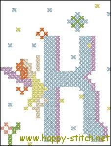 Fairy Alphabet K free #crossstitch pattern