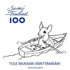 Suomi 100 vuotta | Tarinatädin värityskuvat