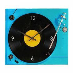 Wandklok Platenspeler wall clock record player 12.95 euros