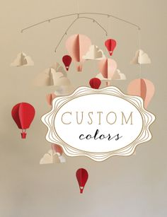 Customized Hot Air Balloon Paper Mobile L by HUSHandHONEY on Etsy, $100.00