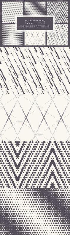 Dotted Seamless Patterns. Set 1. Patterns
