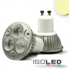 GU10 LED Strahler 3x1 Watt, Style 1, warmweiss, dimmbar / LED24-LED Shop
