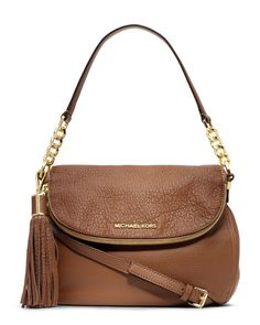 MICHAEL Michael Kors Medium Bedford Convertible Shoulder Bag in Luggage Brown