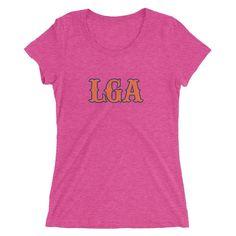 New York Airport Code Women's Baseball T-Shirt (LGA)