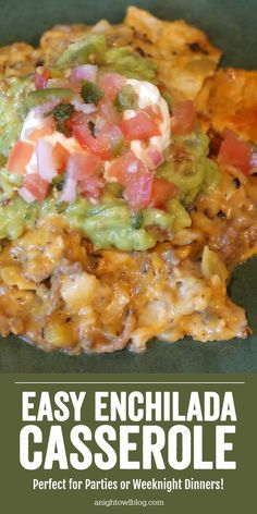 Love enchiladas but don't have the time to prepare? Pull this EASY ENCHILADA CASSEROLE together in minutes with the same great taste! Love enchiladas but don't have the time to prepare? Pull this casserole together in minutes with the same great taste! Mexican Food Recipes, Beef Recipes, Cooking Recipes, Beef Meals, Cooking Tips, Mexican Dishes, Beef Tips, Recipies, Easy Cooking