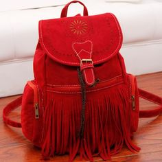 $10.69 Retro Women's Satchel With Engraving and Fringe Design