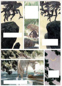 MAN ARENAS 22 Planche originale de Yaxin le faune Gabriel