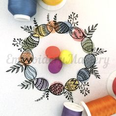 Soon Happy Easter!  Easter Machine Embroidery Design - Easter eggs - Floral wreath - Easter pattern - Happy Easter - 3 sizes - Instant download http://etsy.me/2nI1MbP #supplies #easter #embroidery #machineembroidery #design #eastereggs #floralwreath #easterpattern
