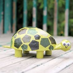 This cute little guy is made using paper mache, fabric and Mod Podge.