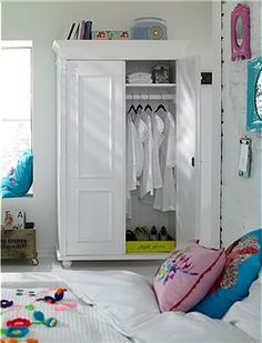 upgrade the closet by adding wooden moldings on the doors