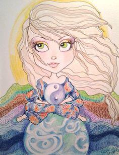 She Had Inner Peace Big Eye Inspirational Art Print