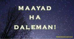Good evening = Maayad ha deleman