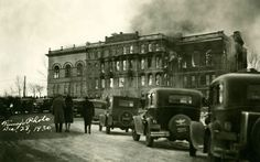 State Capitol Fire, Dec-28-1930, Finny Photo  State Archives #10154-66