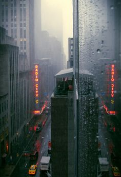 Rainy day in Manhattan, New York
