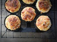 Savory Ham and Cheese Muffins -- nothing beats a muffin that goes with every meal.