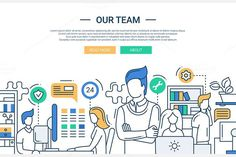 Our Team - Website Header. Business Infographic. $5.00