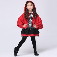 Cheap christmas children, Buy Quality little girl directly from China dots kids Suppliers: Christmas Children Little Red Riding Hood Cosplay Red Cloak Halloween Kids Dot Ribbon Bowknot Costume Girls Lace Dance Dress Halloween Party Costumes, Halloween Dress, Halloween Outfits, Girl Costumes, Halloween Kids, Halloween Christmas, Funny Halloween, Pirate Cosplay, Cosplay Boy