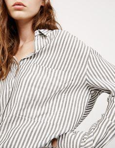 Camisa oversize 2 bolsillos - Camisas - Bershka Colombia