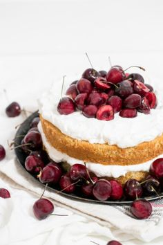 buttermilk cake : whipped cream & bourbon soaked cherries