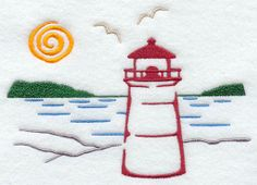 embroidery designs lighthouse - Google Search