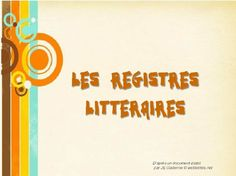 Les registres littér