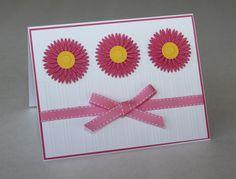 Gerbera Daisy Birthday Card by PaperKayper on Etsy