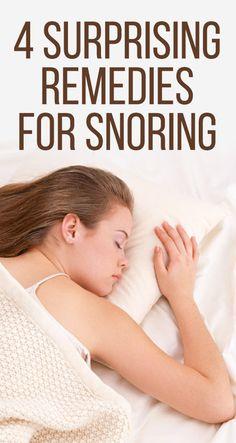 4 Surprising Remedies For Snoring
