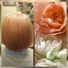Окрашивание и стрижка. Пастельно-коралловый цвет | Студия красоты Талия, салон красоты, парикмахерская